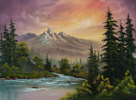 bob ross painting in acrylics 17 best ideas about acrylic landscape painting on