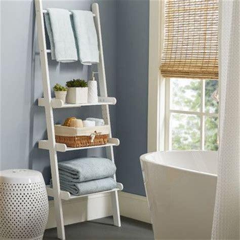 bathroom storage shelves best 25 bathroom ladder shelf ideas on white