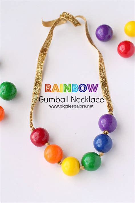 gumball necklace rainbow gumball necklace giggles galore
