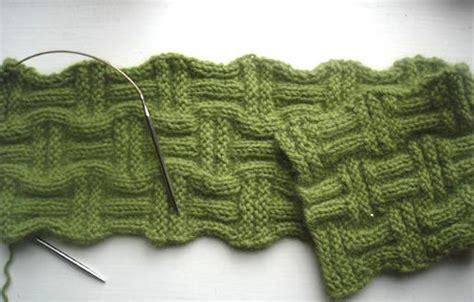 weave knit scarf pattern basket weave knitting patterns a knitting