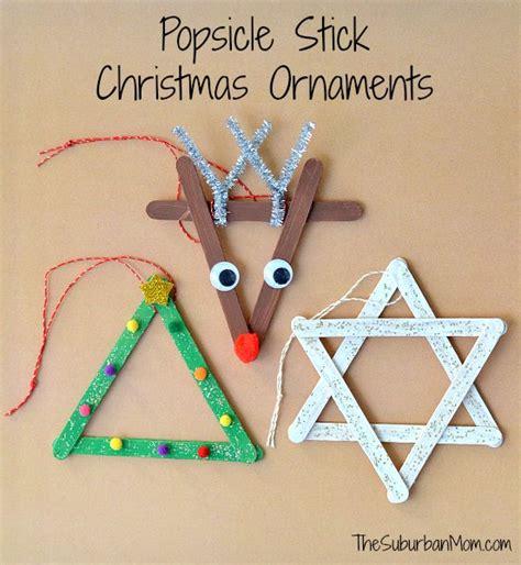 ornaments crafts 3 popsicle stick ornaments craft