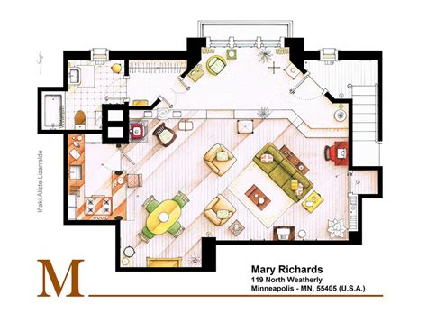 floor plans of tv show houses an artist recreated the floor plans for these 9 tv homes