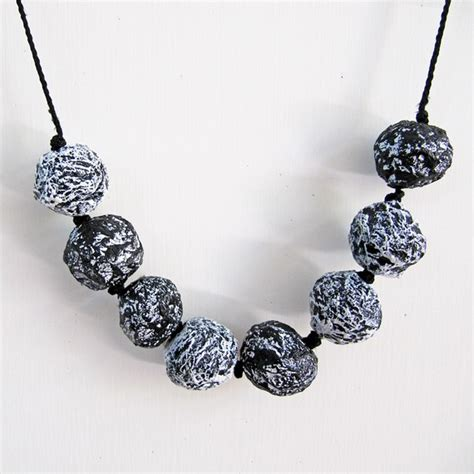 how to make paper mache jewelry black and white necklace paper mache jewelry fall jewelry
