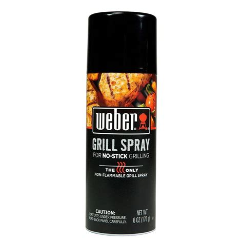 spray paint not sticking weber grill n spray for no stick grilling 6 oz 800703