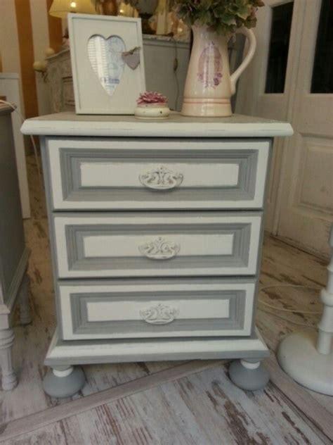 muebles pintados con chalk paint sloan mesita de noche pintada con grey y white chalk