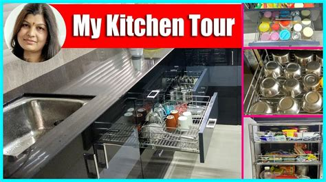 organised kitchen indian organised kitchen tour ideas in रस ई क स