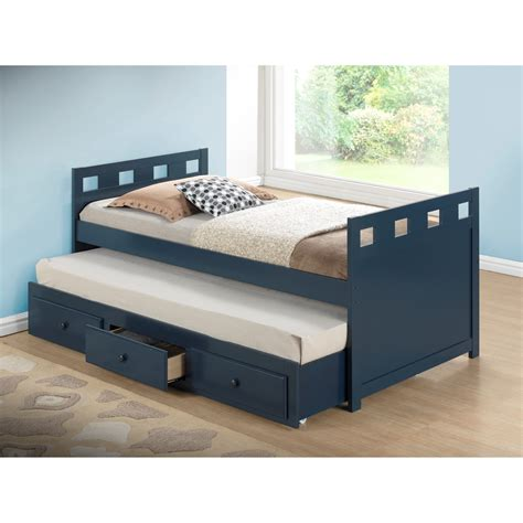 bed and trundle broyhill breckenridge captain bed with trundle