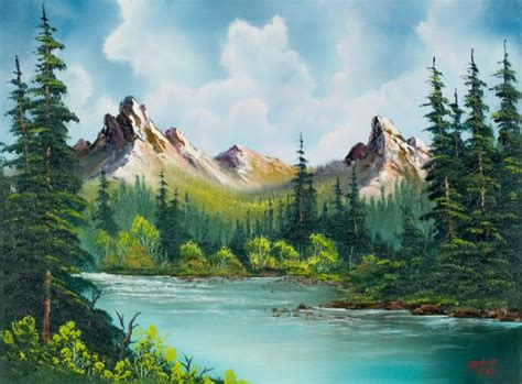 bob ross paintings for sale bob ross peaks river painting for sale