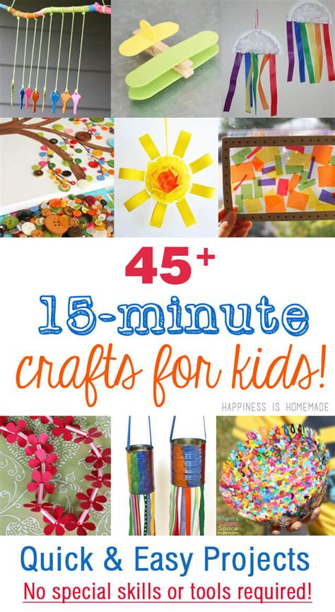 easy craft project 45 easy crafts that anyone can make
