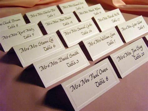 how to make place cards for wedding wedding reception place cards wedding rehearsal