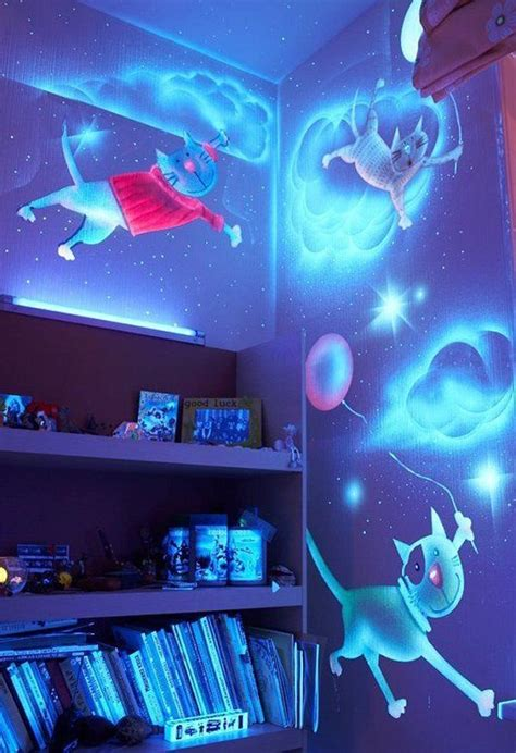 glow in the painting room how to diy glow in the paint wall murals