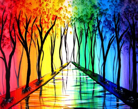 paint nite yerman s rainbow road at adobe cafe paint nite events