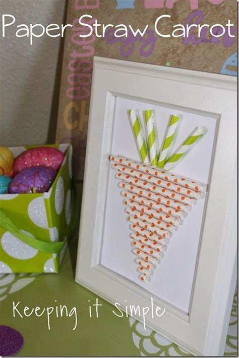 paper straw craft ideas paper straw carrot from keeping it simple easter crafts
