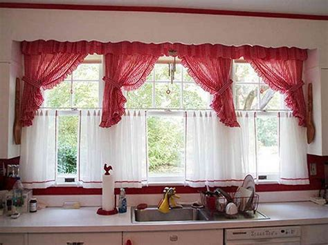 curtains for kitchen bay windows some kitchen window ideas for your home