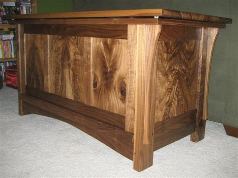 walnut woodworking projects blanket chest in cedar and black walnut by marshall
