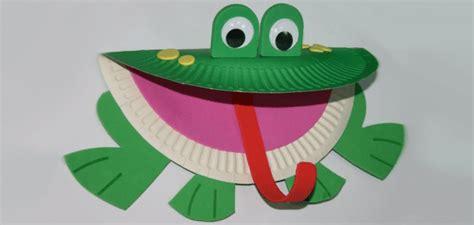 paper plate frog craft paper plate frog craft 171 funnycrafts