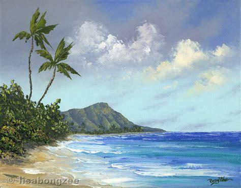 paint nite oahu waikiki hawaii original painting by