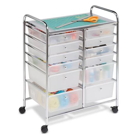 craft paper storage drawers drawer 12 utility cart organizer studio storage