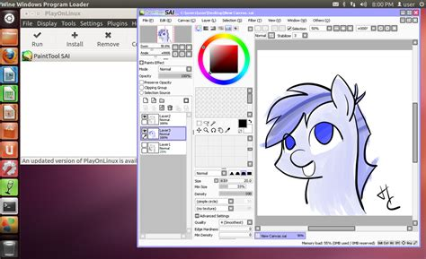 paint tool sai update install paint tool sai on linux w pen pressure by