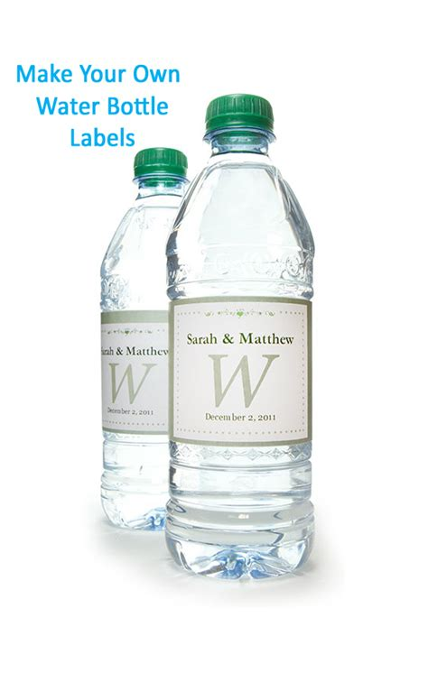 make your own water water bottle labels onlinelabels