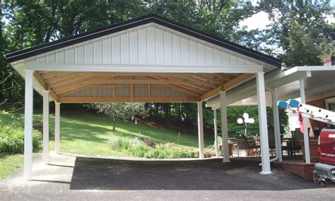 alluring carports design with two car garage space and