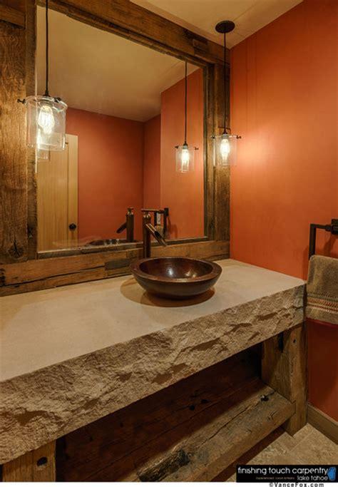 rustic mirrors for bathrooms repurposed barn wood furniture