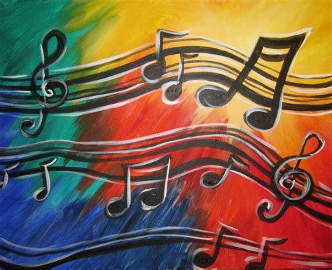 acrylic painting notes musical notes painting ideas musicals