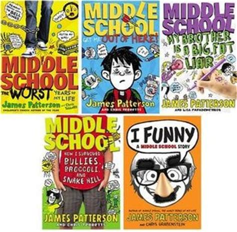 middle school picture books i middle school series 5 book set by patterson