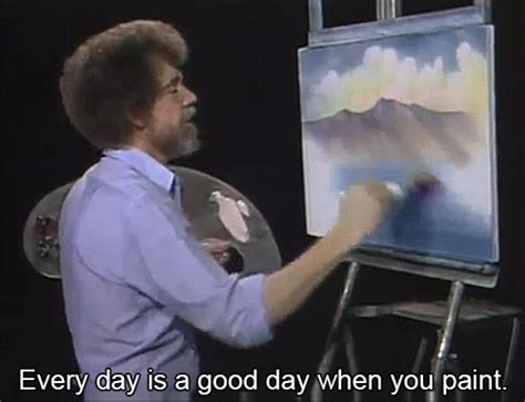 bob ross painting gif bob ross inspiration gif find on giphy