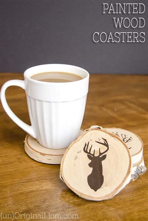 home made crafts for diy painted wood slice coasters unoriginal
