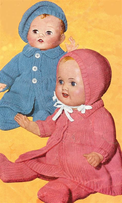 baby doll clothes knitting patterns 12 14 16 baby doll clothes set beret knitting pattern ebay