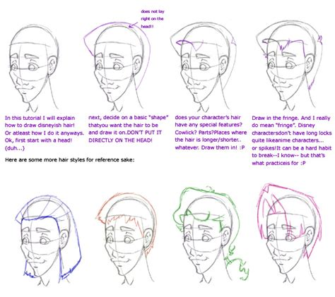 how to draw style book drawing disney style hair tutorial reference by