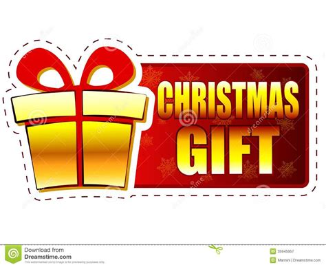gift specials gift and present box on banner with