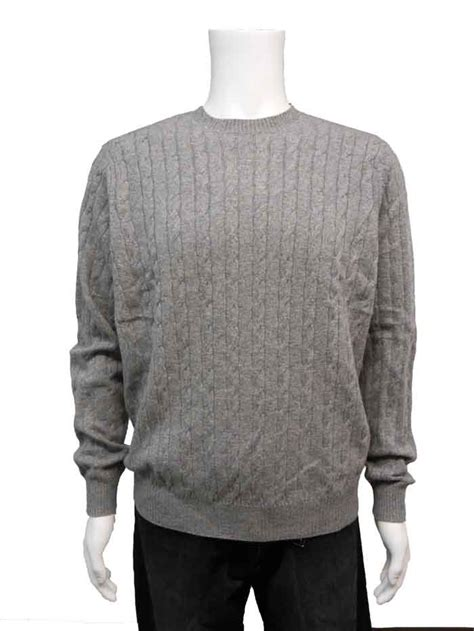 mens cable knit sweaters brookmore mens crew neck cable knit sweater nwt