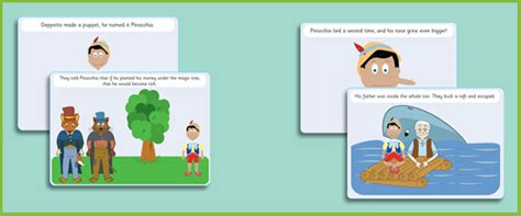 pinocchio story sequencing cards free early years