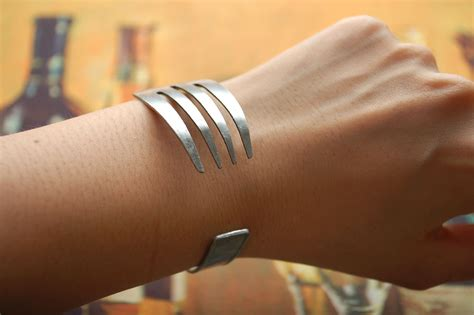 how to make spoon jewelry step by step how to make a fork bracelet 5 steps wikihow