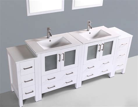 bathroom vanities 84 inches contemporary 84 inch white sink bathroom vanity set