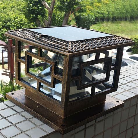 solar column lights outdoor buy wholesale solar pillar lights from china solar
