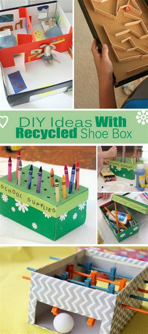 shoe box craft projects diy ideas with recycled shoe box hative