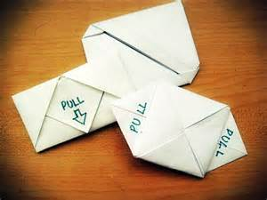 origami letter folds 3 different styles of letter folding