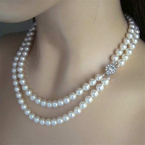 pearls jewelry wedding jewelry strand pearl necklace pearl bridal