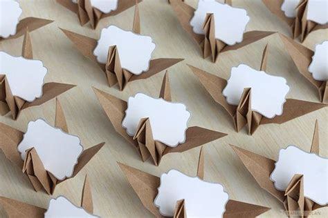 origami place card 16 name place cards origami paper crane wedding by