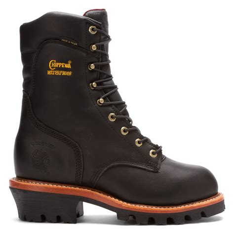aj smith rubber sts chippewa 25410 9 inch insulated logger st eh wp in