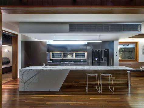 modern kitchen island bench modern galley kitchen design using floorboards kitchen photo 236052