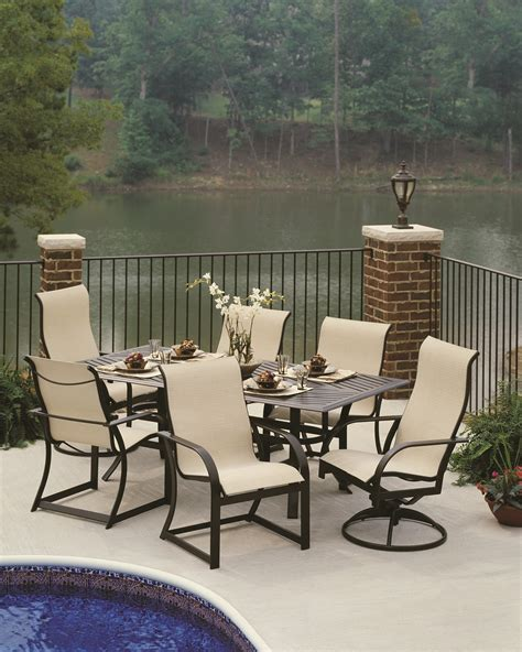 high chair patio furniture modern style deck ideas with black aluminum high back