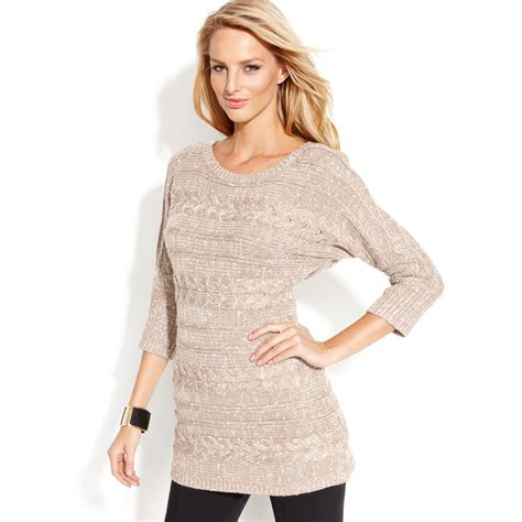 cable knit tunic sweater inc international concepts dolmansleeve cableknit tunic