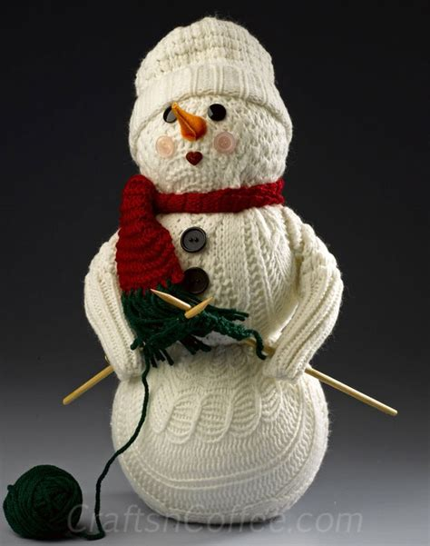 snowman crafts for to make repurpose socks sweaters to make these