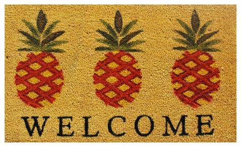 pineapple rubber st pineapple welcome doormat tropical doormats by home