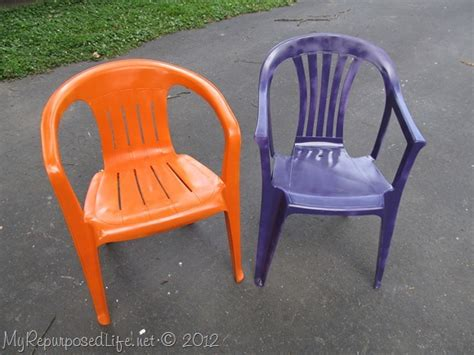 spray painting vinyl furniture spray paint plastic chairs