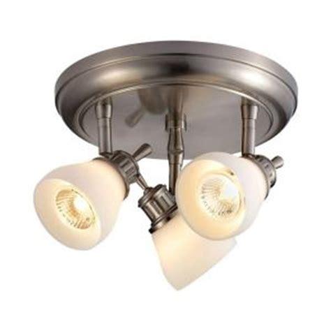 hton bay kitchen lighting hton bay 3 light satin nickel directional ceiling track